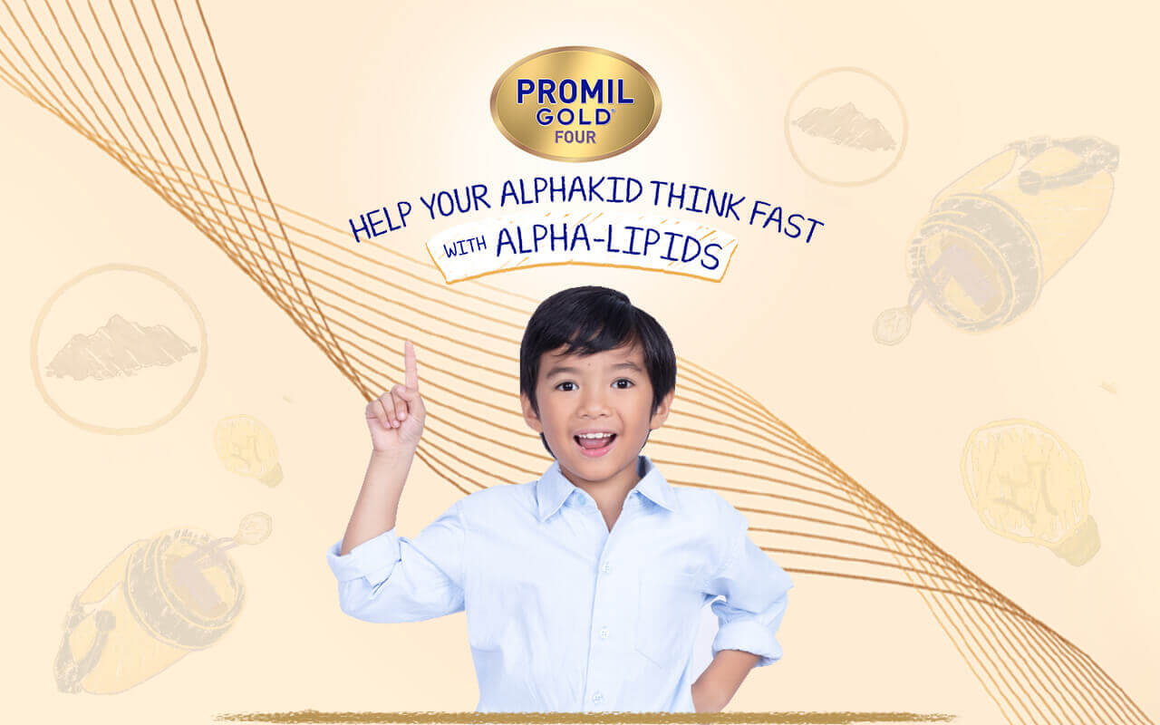 Promil Gold Four - Help Your Kid Think Fast With ALPHA-LIPIDS